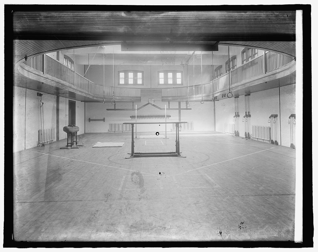 8 x 10 Reprinted Old Photo of Epithany Church gymnasium 1918 National Photo Co  87a