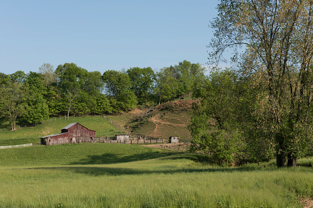 18 x 24 Photograph reprinted on fine art canvas  of Rural scene in Jackson County West Virginia near Ravenswood r50 42133 by Highsmith, Carol M.