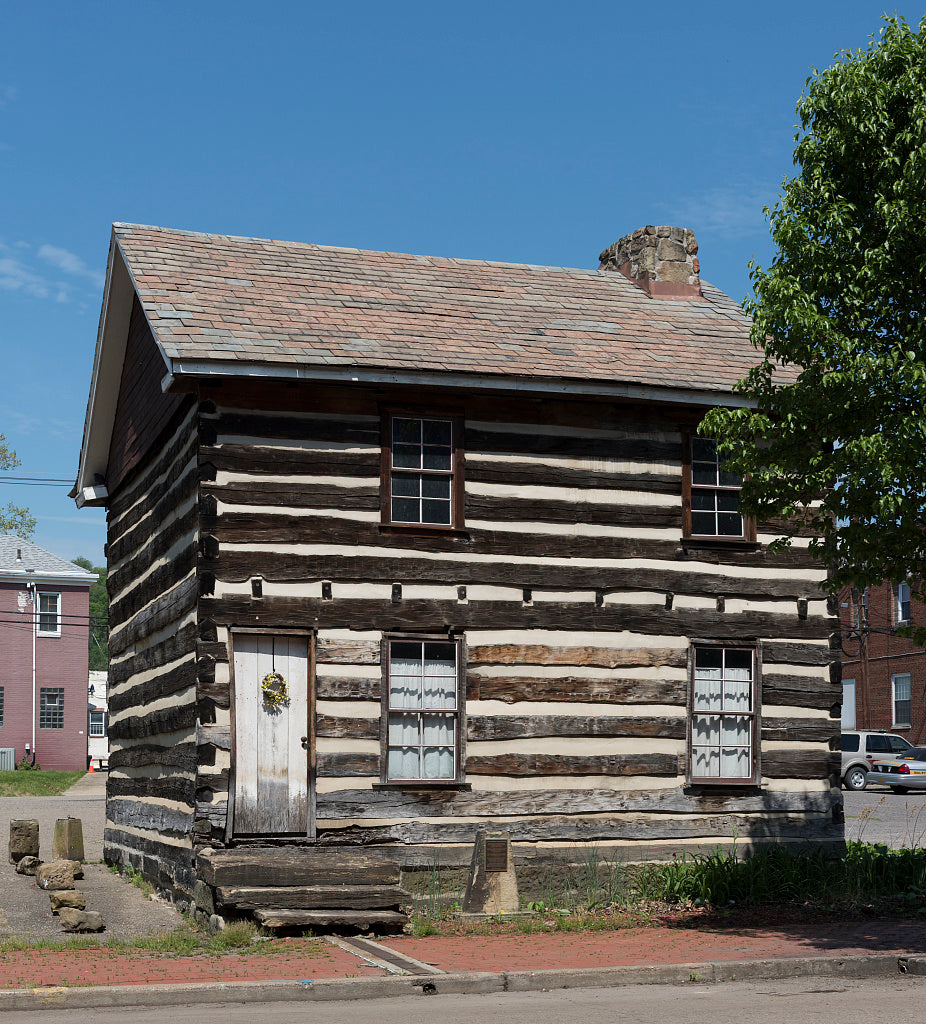 18 x 24 Photograph reprinted on fine art canvas  of The Wells Log House built in 1788 by Alexander Wells on Washington Street in Buffaloe Virginia now Wellsburg West Virginia  r64 42134 by Highsmith, Carol M.