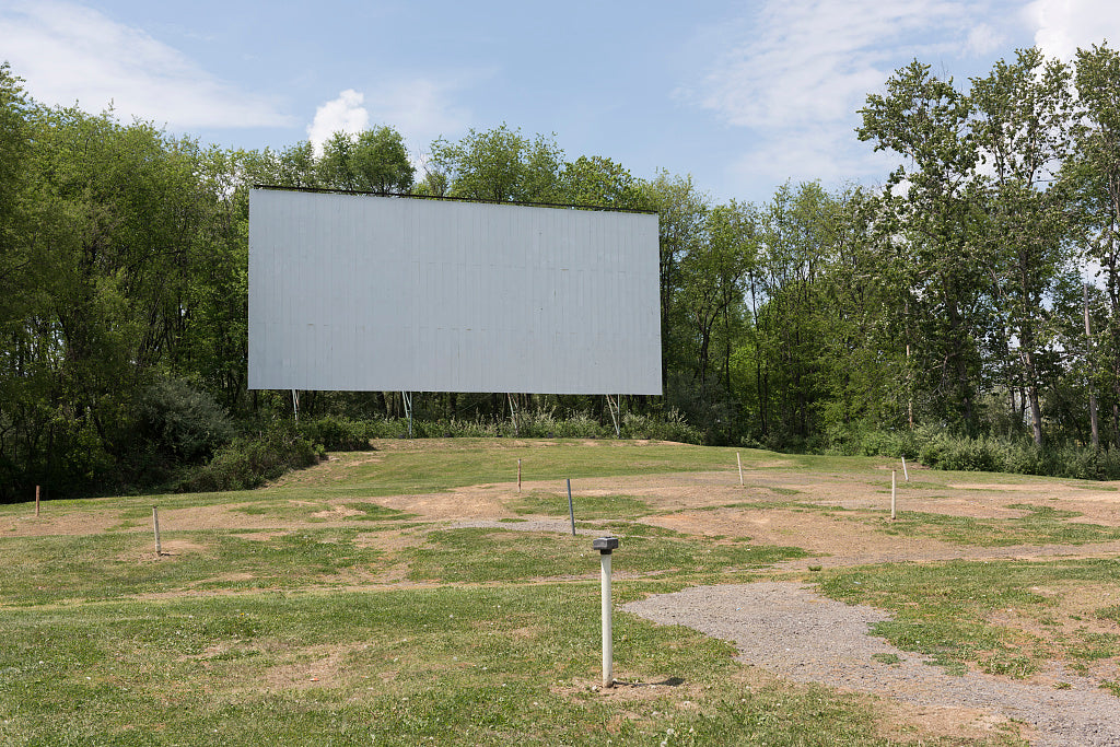 18 x 24 Photograph reprinted on fine art canvas  of The screen and sound poles minus their audio boxes at the Hilltop Drive-In Theater in Chester West Virginia which was once one of 75 active drive-in movie theaters in the s