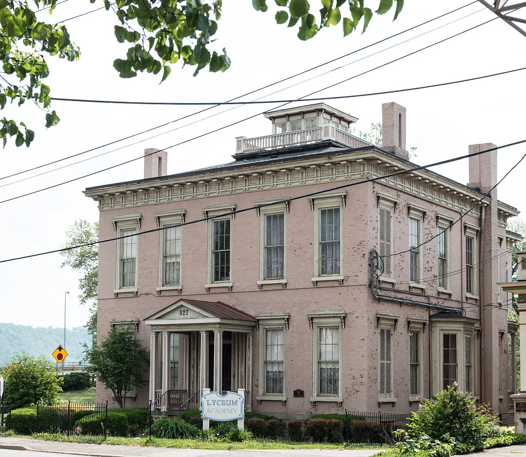 18 x 24 Photograph reprinted on fine art canvas  of The Henry K. List House on Main Street in Wheeling West Virginia was built in 1858 for the president of the City Bank of Wheeling r58 42135 by Highsmith, Carol M.