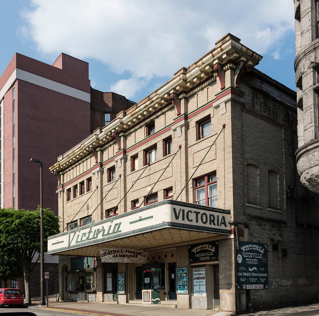 18 x 24 Photograph reprinted on fine art canvas  of The Victoria Theater in Wheeling West Virginia. Opened in 1904 Victoria Theater is as of 2015 the the oldest operating theater in West Virginia r67 42135 by Highsmith, Caro