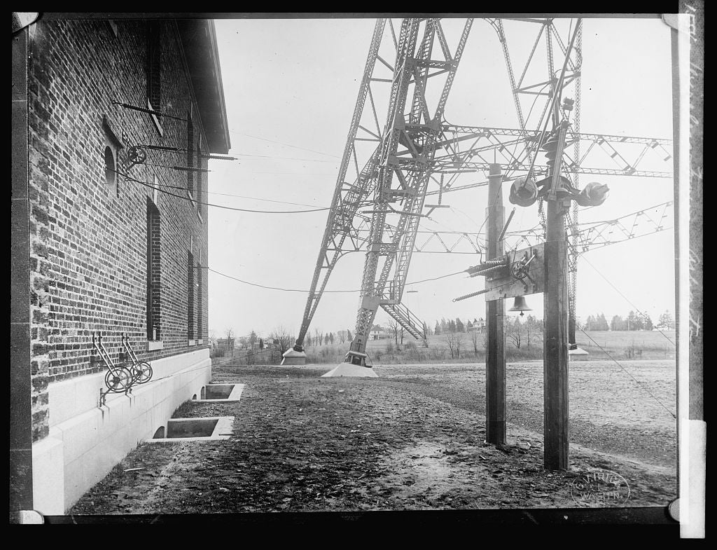 8 x 10 Reprinted Old Photo of Wireless towers, Arlington, [Virginia] 1917 National Photo Co  07a