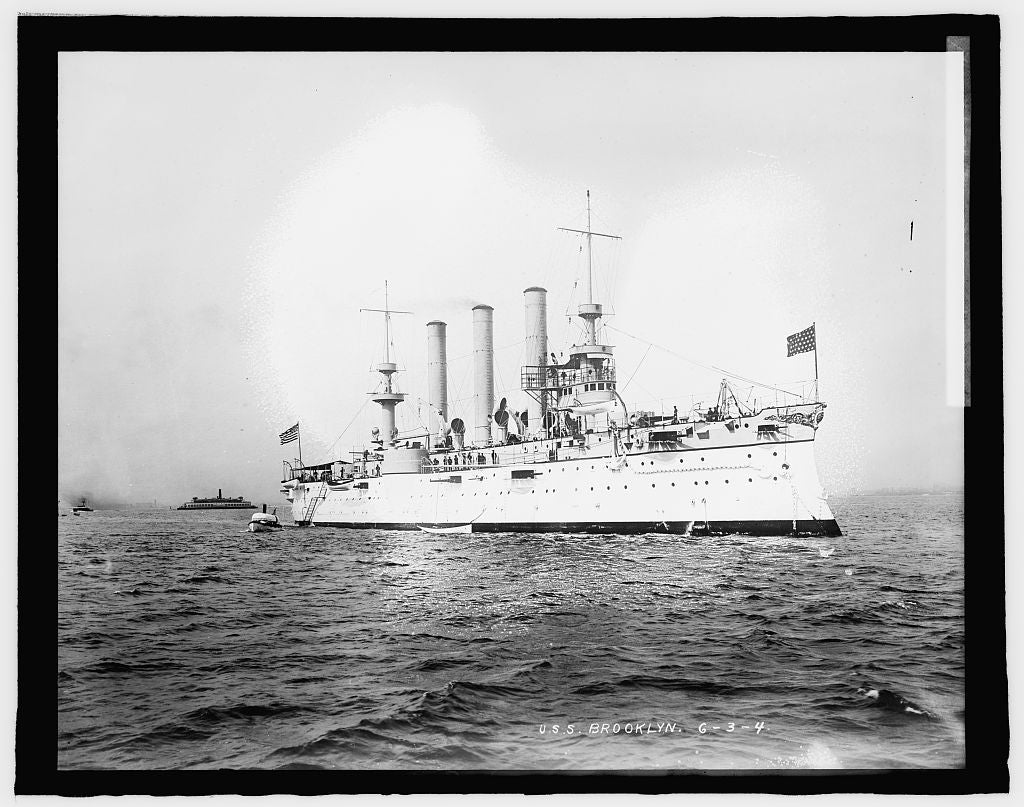8 x 10 Reprinted Old Photo of U.S.S. Brooklyn 1909 National Photo Co  87a