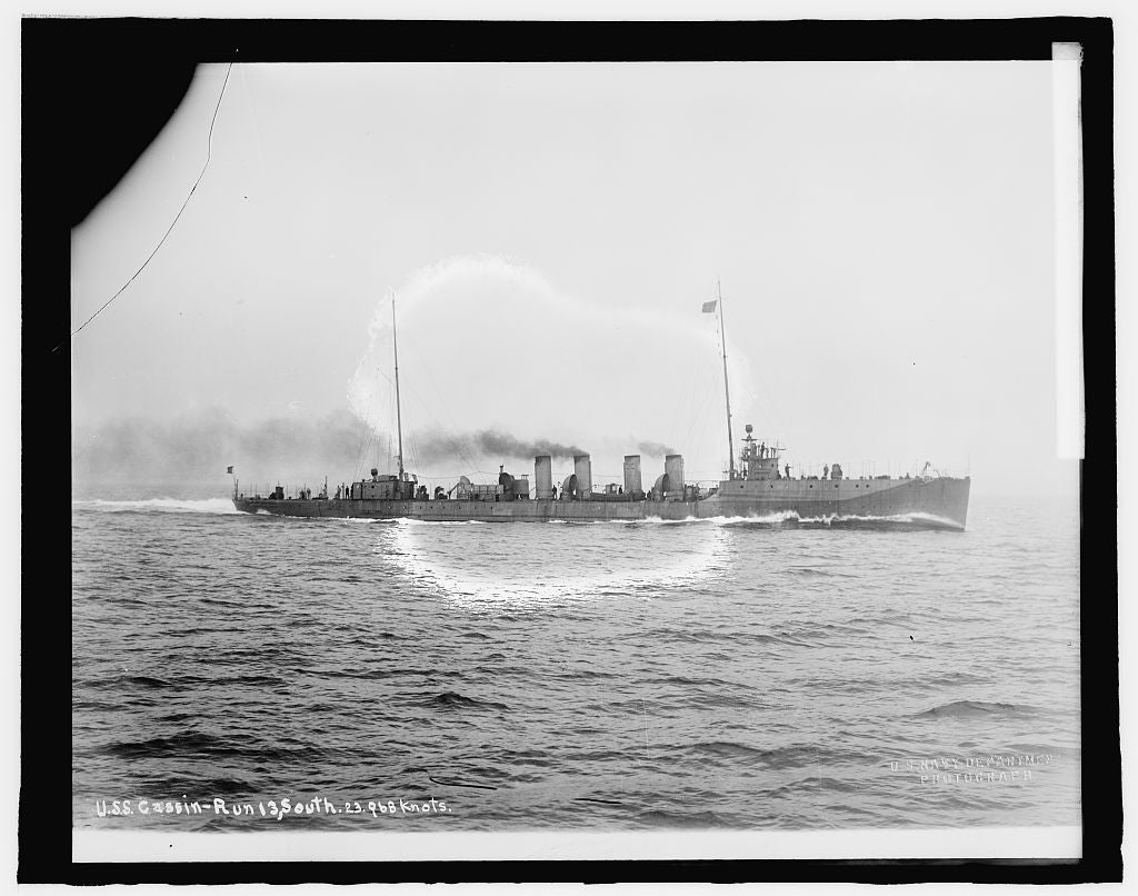 8 x 10 Reprinted Old Photo of U.S.S. Cassin 1909 National Photo Co  92a