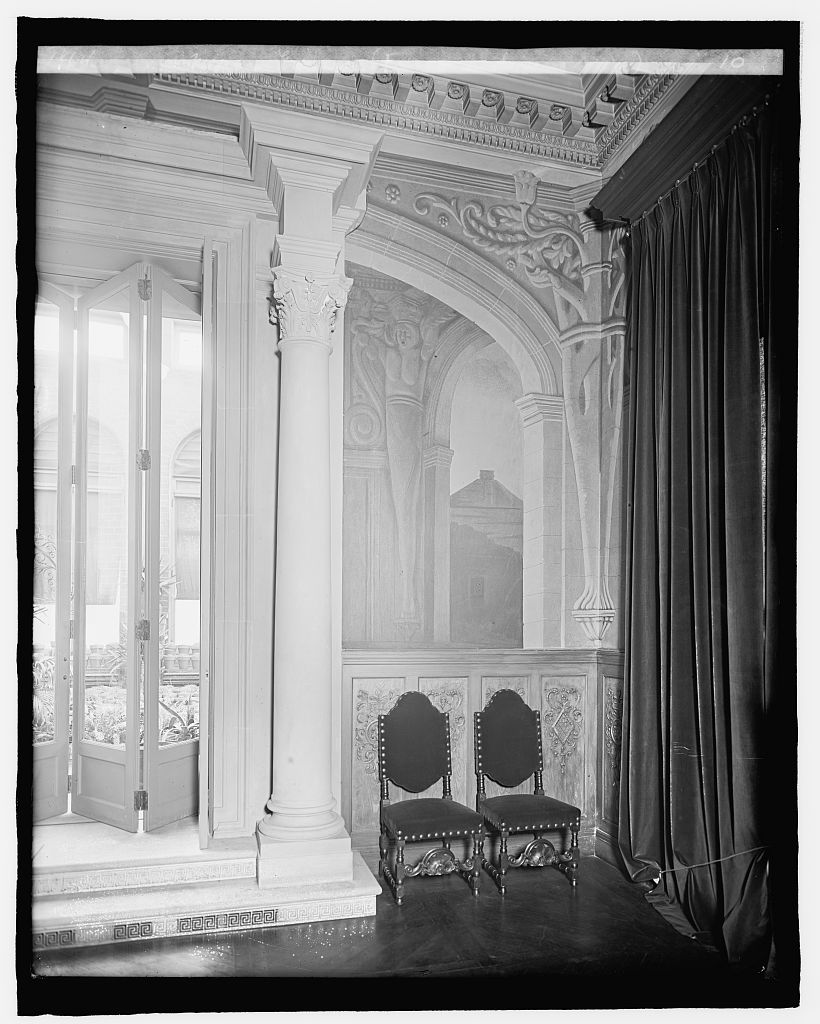 8 x 10 Reprinted Old Photo of Mexican Embassy, [Washington, D.C.], fresco in dining room 1917 National Photo Co  07a