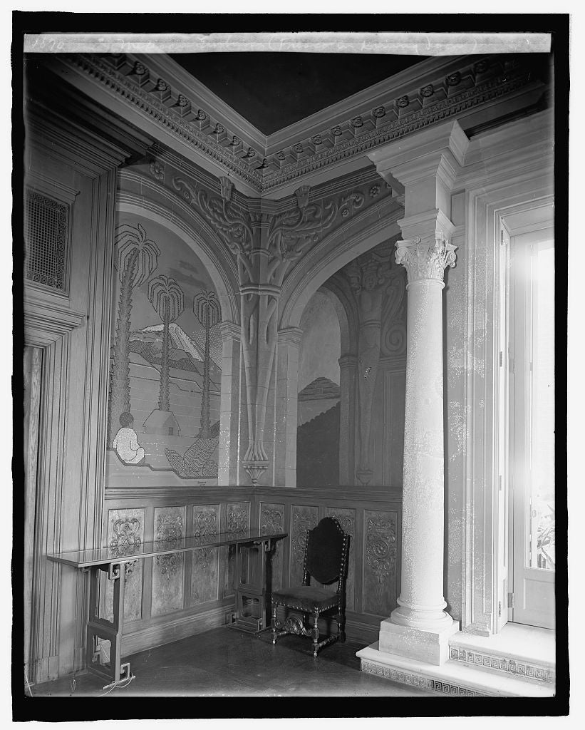 8 x 10 Reprinted Old Photo of Mexican Embassy, [Washington, D.C.], fresco in dining room 1917 National Photo Co  13a