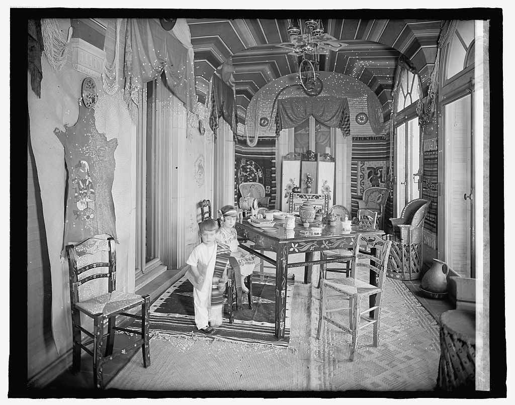 8 x 10 Reprinted Old Photo of Mexican Embassy, [Washington, D.C.]; Emilia & Jose Telley in Mexican Room 1917 National Photo Co  23a