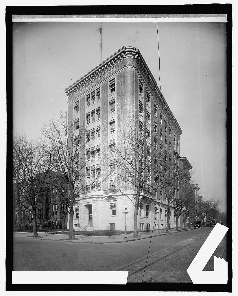 8 x 10 Reprinted Old Photo of American Federation of Labor building, [Massachusetts Ave. and 9th St., Washington, D.C. 1917 National Photo Co  81a