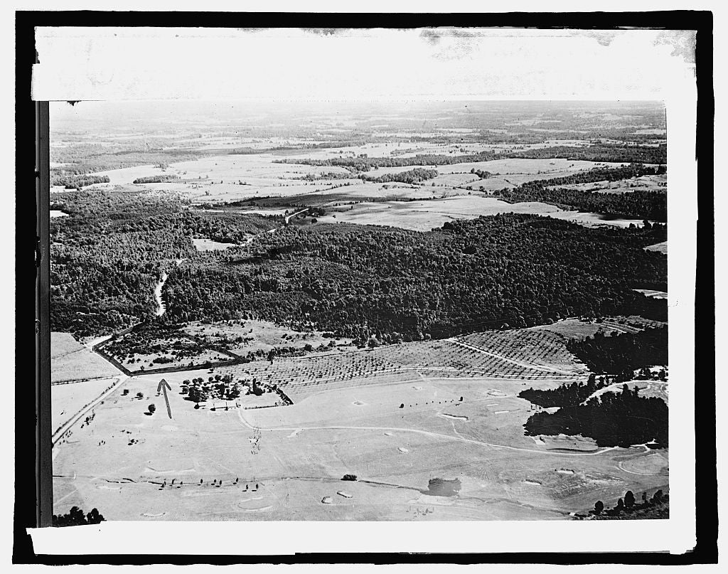 8 x 10 Reprinted Old Photo of Congressional Country Club, [Bethesda, Maryland]; air view 1917 National Photo Co  96a