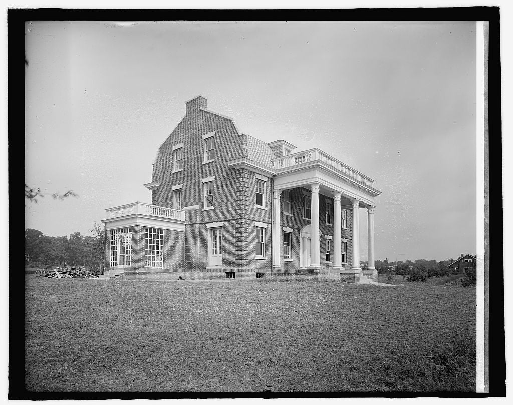 8 x 10 Reprinted Old Photo of Keefer House, Alex. County, [Virginia 1917 National Photo Co  10a