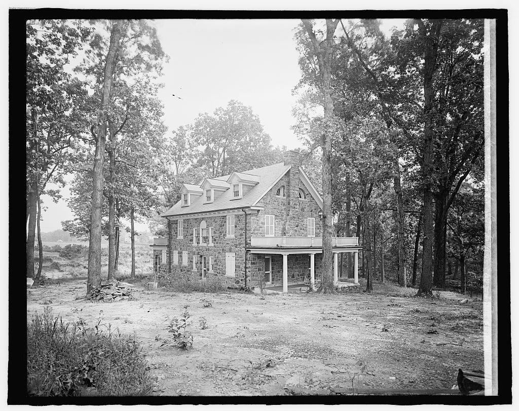 8 x 10 Reprinted Old Photo of Keefer House, Alex. County, [Virginia], Jefferson Park 1917 National Photo Co  12a