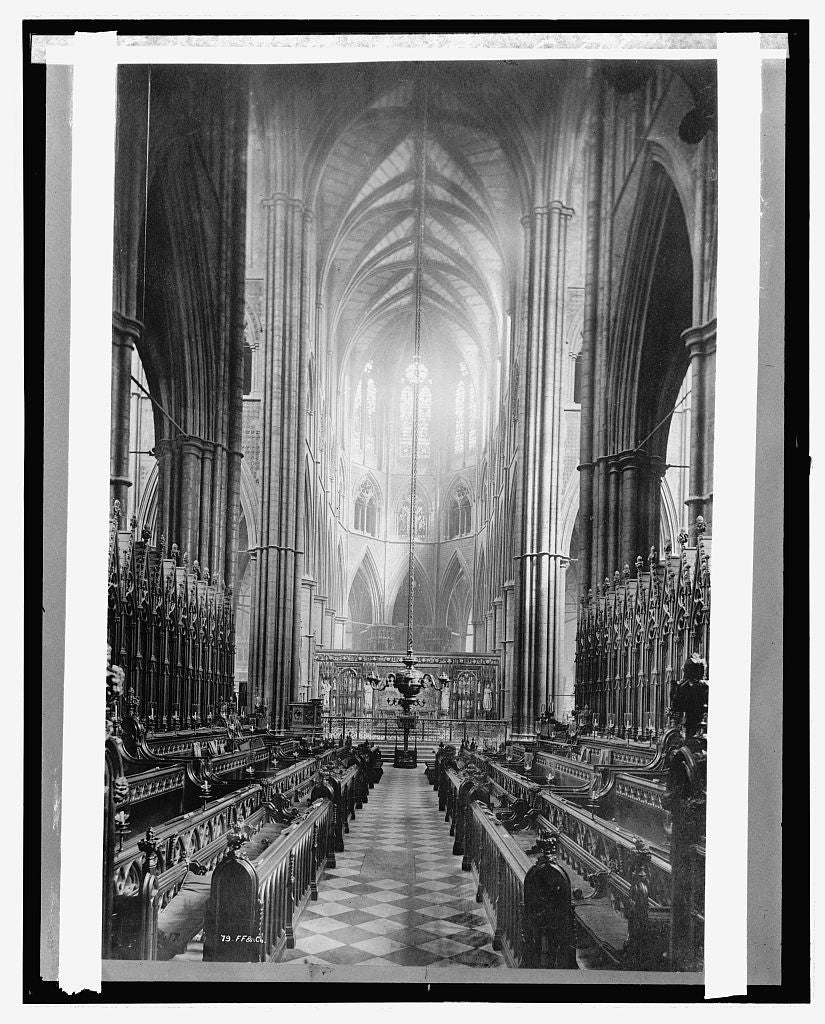 16 x 20 Reprinted Old Photo ofEngland, Westminister Abbey, East Choir 1920 National Photo Co  57a