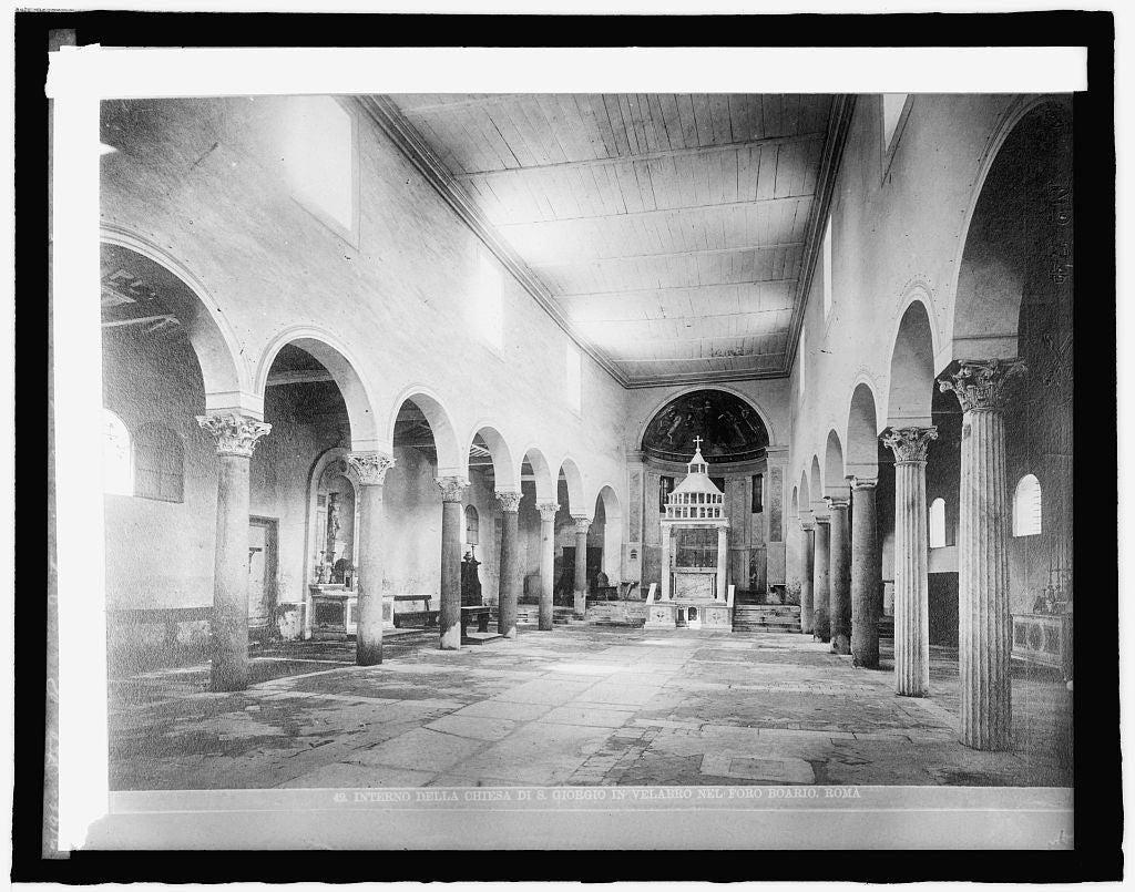 16 x 20 Reprinted Old Photo ofItaly, Rome, interior of St. George's 1920 National Photo Co  63a