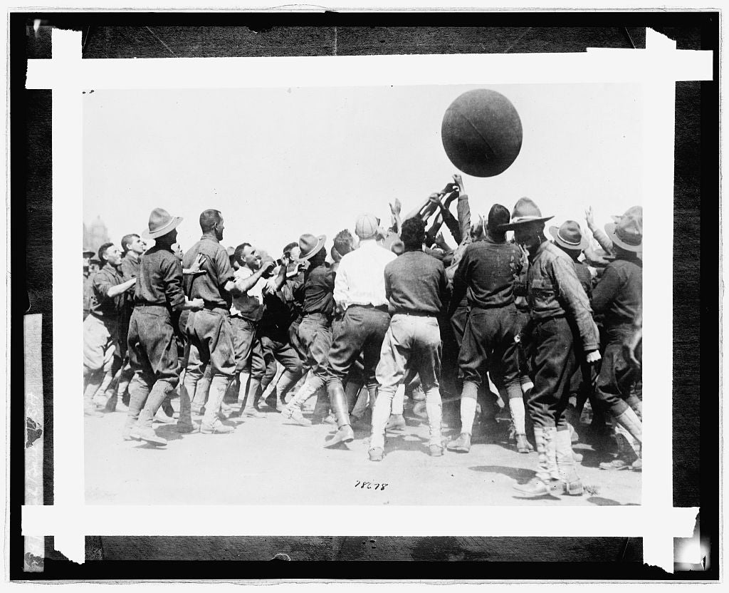 8 x 10 Reprinted Old Photo of Push ball, U.S.A 1924 National Photo Co  97a
