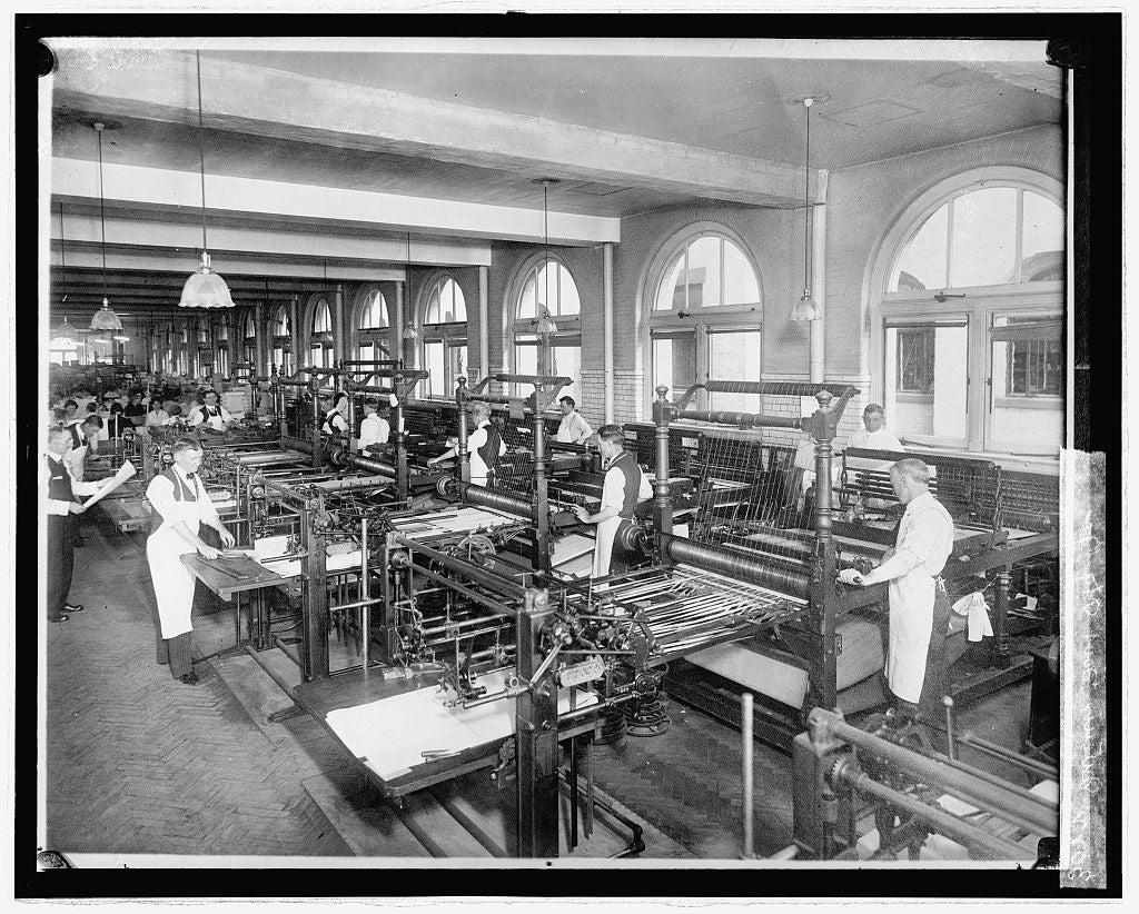 8 x 10 Reprinted Old Photo of Interior, Govt. Ptg. Ofc., [Washington, D.C.] 1923 National Photo Co  72a