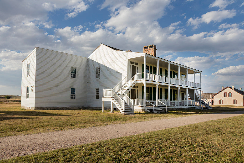 "18 x 24 Photograph reprinted on fine art canvas  of The structure known as ""Old Bedlam"" at Fort Laramie National Historic Site in Goshen County Wyoming r83 42254 by Highsmith, Carol M.,"