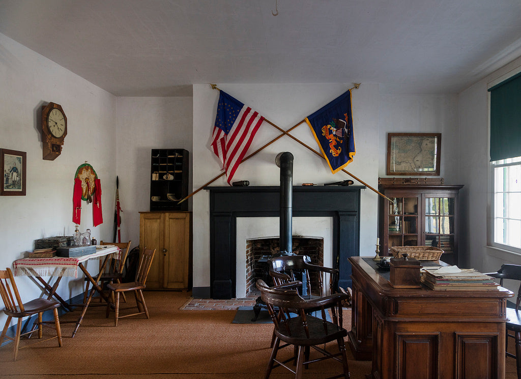 "18 x 24 Photograph reprinted on fine art canvas  of Interior view of the building known as ""Old Bedlam"" at Fort Laramie National Historic Site in Goshen County Wyoming r84 42254 by Highsmith, Carol M.,"