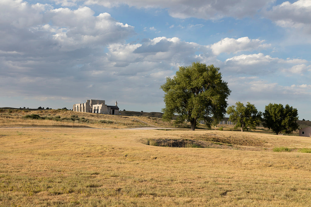 18 x 24 Photograph reprinted on fine art canvas  of Distant remnants of the post hospital at Fort Laramie National Historic Site in Goshen County Wyoming r89 42254 by Highsmith, Carol M.,