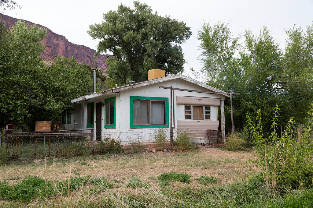 18 x 24 Photograph reprinted on fine art canvas  of A modest house built above and around an old house trailer in the little town of Gateway near the Utah border in Mesa County Colorado r58 42268 by Highsmith, Carol M.,