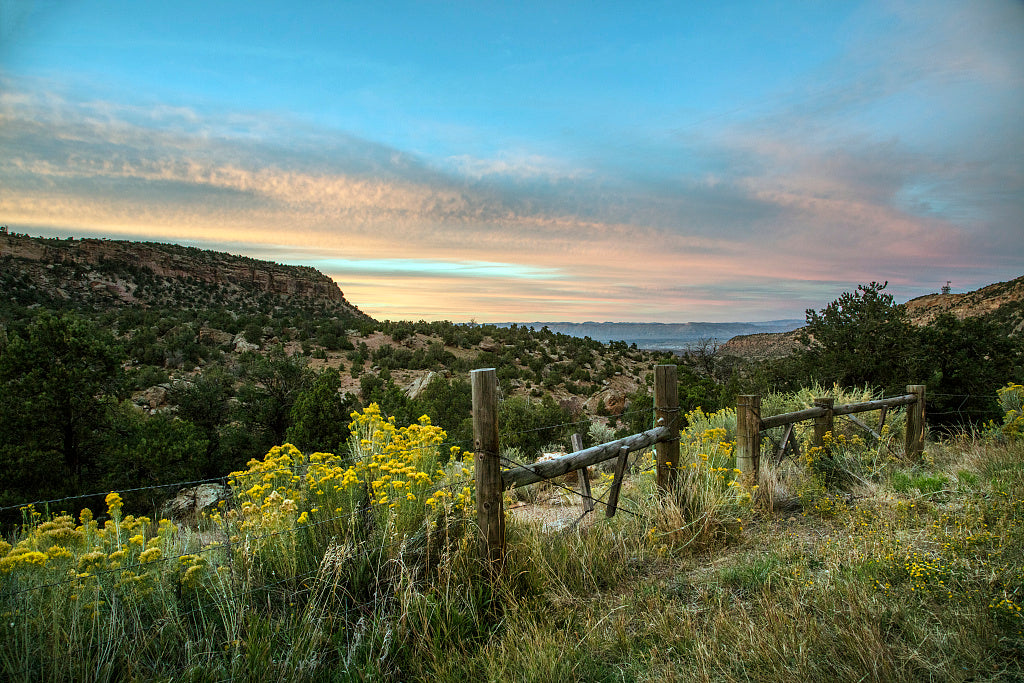 18 x 24 Photograph reprinted on fine art canvas  of Dusk settles over Mesa County Colorado's Unaweep Canyon r61 42268 by Highsmith, Carol M.,