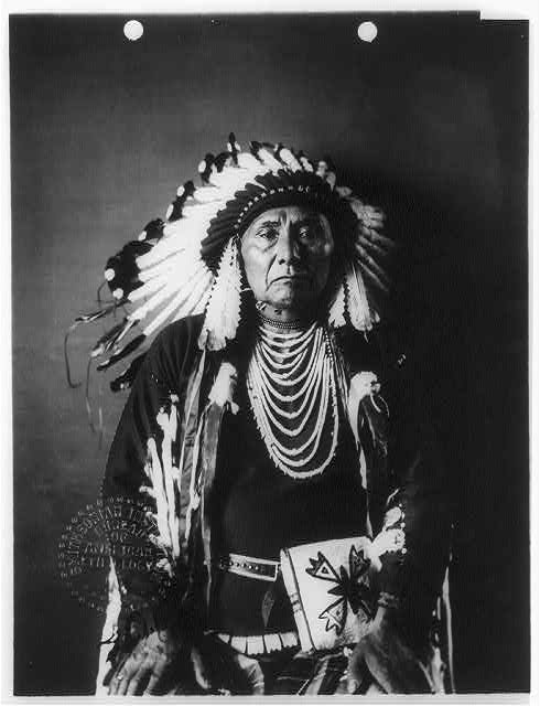 16 x 20 Reprinted Old Photo ofChief Joseph, ca. 1840-1904 half-length portrait, seated, facing front 1900 National Photo Co  79a