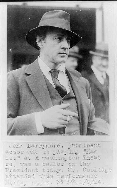 8 x 10 Reprinted Old Photo of John Barrymore 1924 National Photo Co  36a