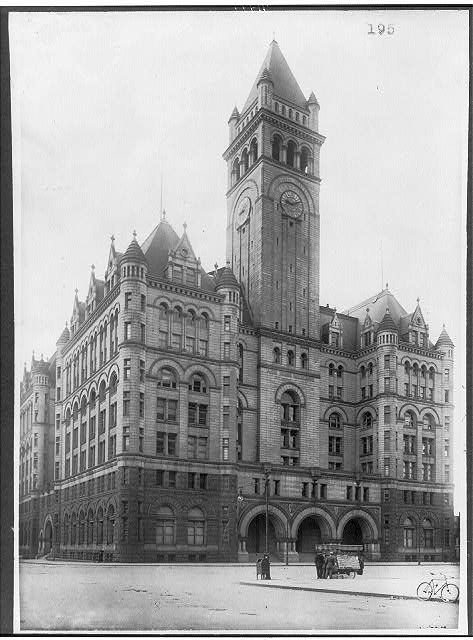 16 x 20 Reprinted Old Photo of[D.C. Wash. Old Post Office bldg. view from across Pa. Ave.] 1920 National Photo Co  17a