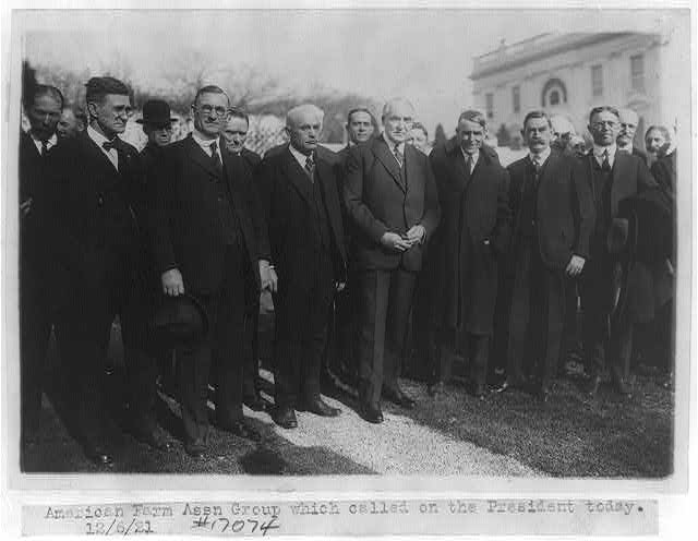 16 x 20 Reprinted Old Photo ofAmerican Farm Association group which called on the President today. 12/6/21 1921 National Photo Co  20a