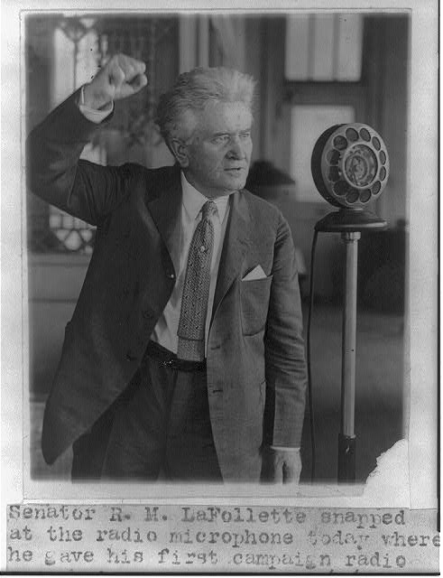 16 x 20 Reprinted Old Photo of Robert Marion LaFollette 1924 National Photo Co  30a