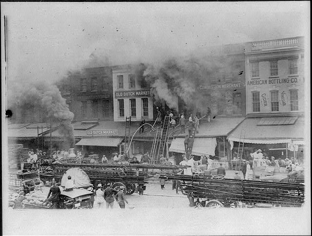 16 x 20 Reprinted Old Photo of[D.C. Washington. Fire Department activities: fighting Hoover & Denham fire, July 1918 (folder 540)] 1918 National Photo Co  15a