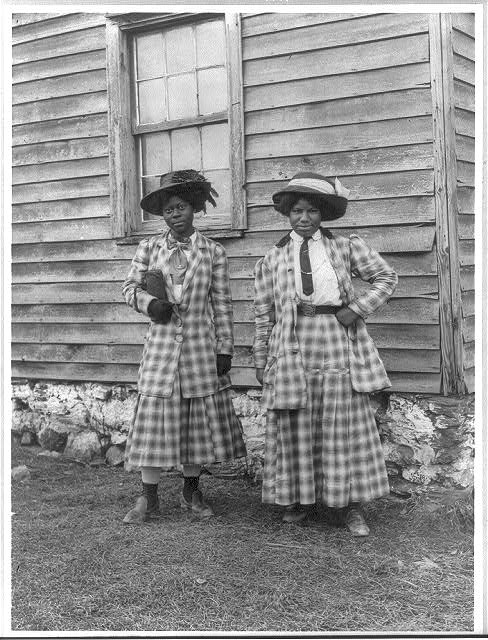 8 x 10 Reprinted Old Photo of [Two young African American women, probably somewhere in Virginia] 1910 National Photo Co  88a