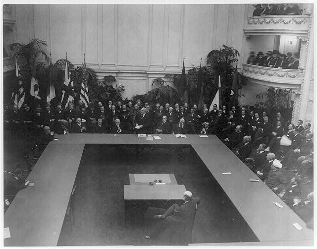16 x 20 Reprinted Old Photo of General view of World Disarmament Conference in session at D.A.R. Hall, Wash., D.C. Sept. 1921 - Pres. Harding addressing members 1921 National Photo Co  54a