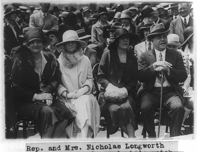 8 x 10 Reprinted Old Photo of Mr. & Mrs. Nicholas Longworth at the Capitol - photographed while watching Hopi Indian Snake Dance 1926 National Photo Co  79a