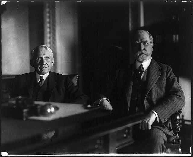 16 x 20 Reprinted Old Photo of[Frank B. Kellogg, Ambassador to England ,and Secretary of State Hughes in Mr. Hughes' office, on the day of the announcement of Mr. Kellogg's 1925 National Photo Co  70a
