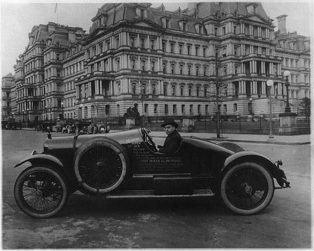 8 x 10 Reprinted Old Photo of Hudson super six automobile in Washington, D.C., at 17th and Pennsylvania Avenues, N.W., in front of State, War, and Navy Bldg. 1920 National Photo Co  43a