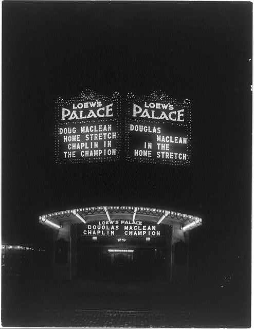 8 x 10 Reprinted Old Photo of Loew's Palace Theater, 1306 F St., N.W., Washington, D.C. 1924 National Photo Co  63a