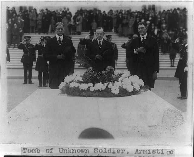 16 x 20 Reprinted Old Photo of Tomb of Unknown Soldier, Armistice Day, 1924 1924 National Photo Co  62a