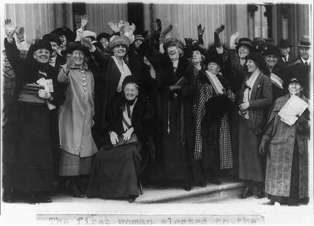 16 x 20 Reprinted Old Photo of [Mrs. Rebecca L. Felton being greeted by prominent political women in Washington, D.C.] 1922 National Photo Co  80a