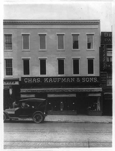 16 x 20 Reprinted Old Photo ofCharles Kaufman & Sons, a clothing store at 431-33 Seventh St., N.W., Washington, D.C. 1920 National Photo Co  83a