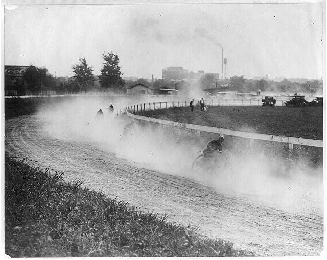 8 x 10 Reprinted Old Photo of Motorcycle race in or near Washington, D.C. 1920 National Photo Co  92a