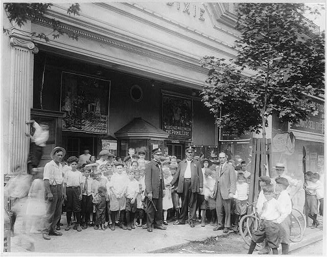 16 x 20 Reprinted Old Photo ofCrowd in front of the Dixie Theater, Washington, D.C. 1920 National Photo Co  01a