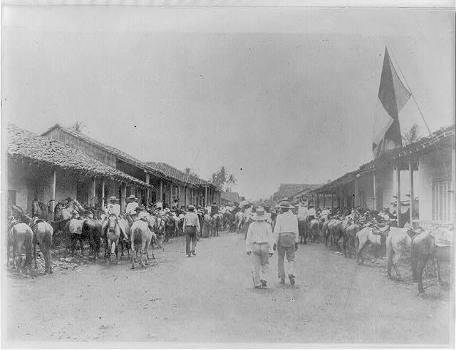 8 x 10 Reprinted Old Photo of Panama, Province of Chiriqui, Main Street, city of David on presidential election day 1912 National Photo Co  08a