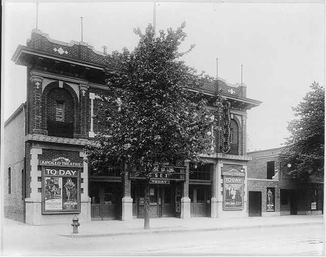 "16 x 20 Reprinted Old Photo ofGrandall's Apollo Theater, Washington, D.C.; showing Louise Glaum in ""Sex"" 1920 National Photo Co  11a"