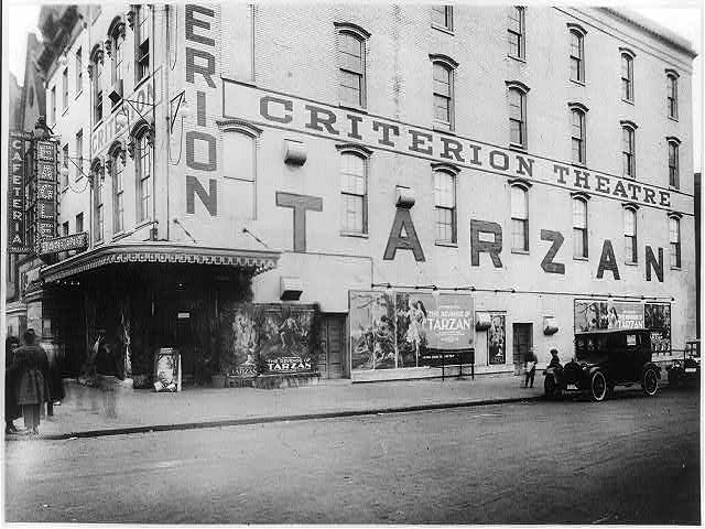"16 x 20 Reprinted Old Photo ofCriterion Theater, Washington, D.C.; showing ""The Revenge of Tarzan"" 1920 National Photo Co  13a"