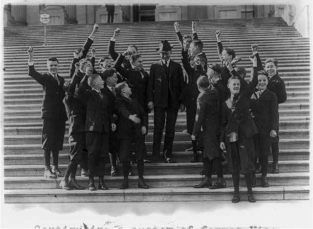 16 x 20 Reprinted Old Photo of Continuing a custom of former Vice Pres. Marshall, Mr. Coolidge today entertained the Senate Pages at lunch in the Capitol - The Vice Pres. r 1921 National Photo Co  94a