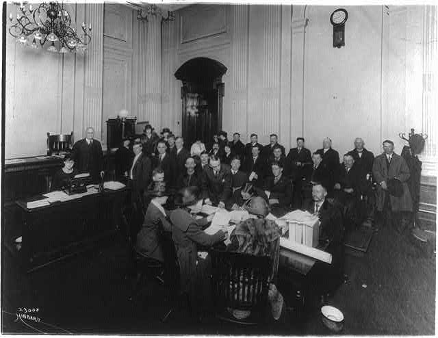 16 x 20 Reprinted Old Photo ofDepartment of Labor, Bureau of Naturalization: Applicants for naturalization 1921 National Photo Co  15a