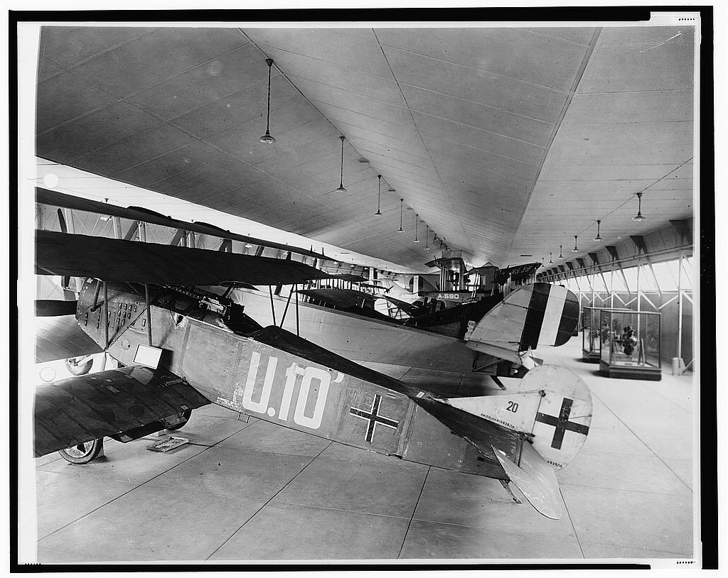 16 x 20 Reprinted Old Photo ofExhibit of early aircraft, probably at Smithsonian Institution 1921 National Photo Co  99a