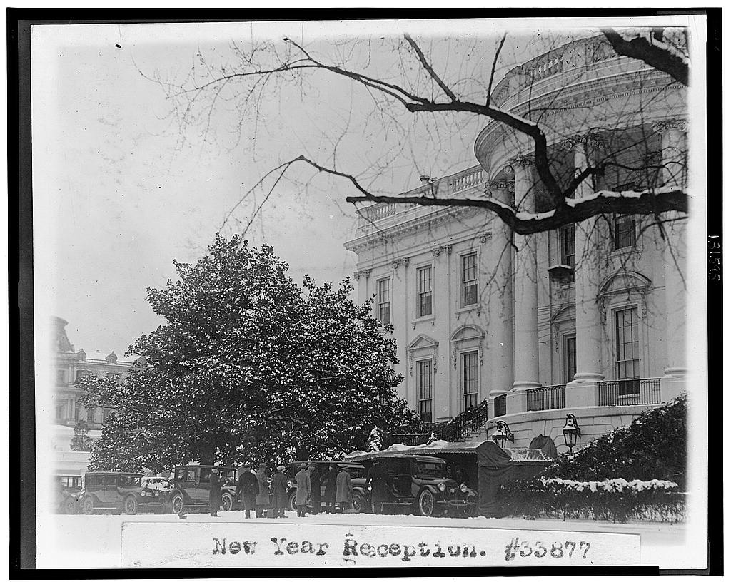8 x 10 Reprinted Old Photo of New year reception [at the White House] 1921 National Photo Co  70a
