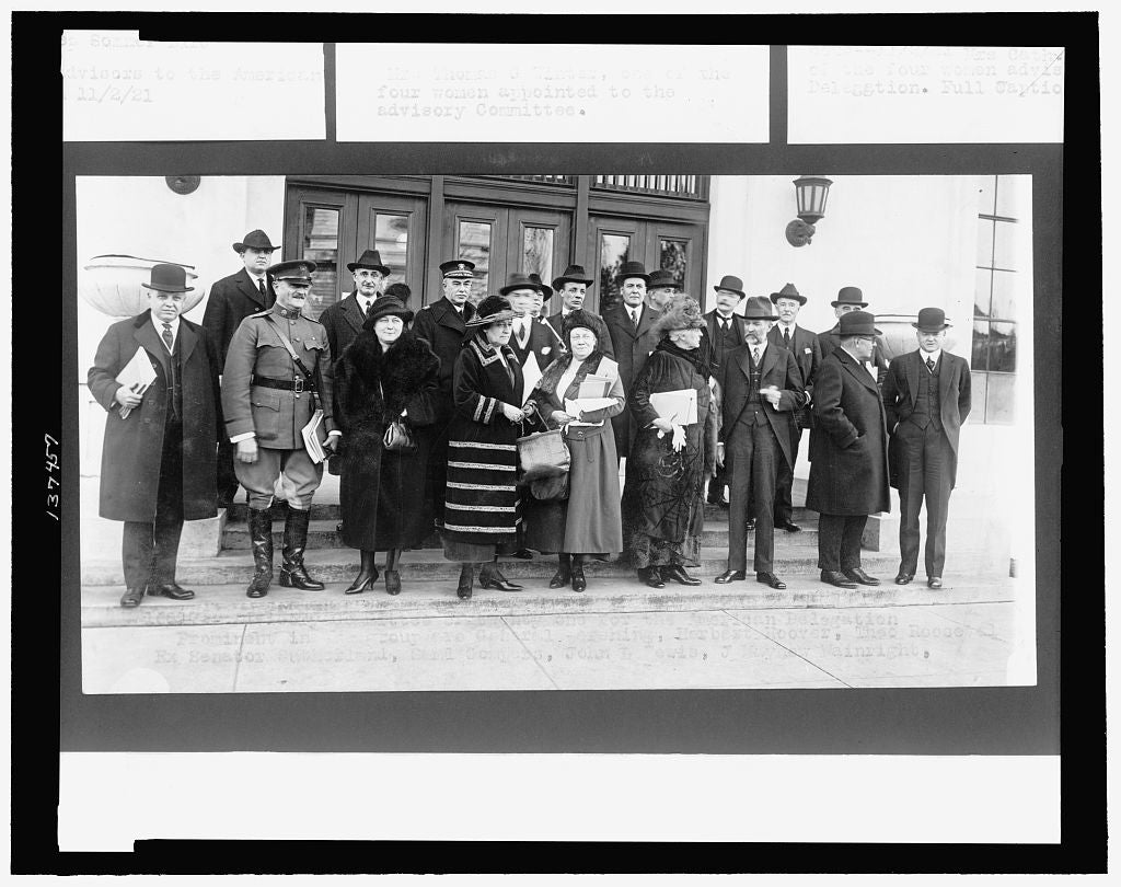 8 x 10 Reprinted Old Photo of Advisory Committee of twenty-one forthe American delegation 1922 National Photo Co  23a